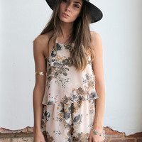 Just The Girl Floral Romper