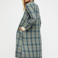 Free People Doublecloth Plaid Maxi