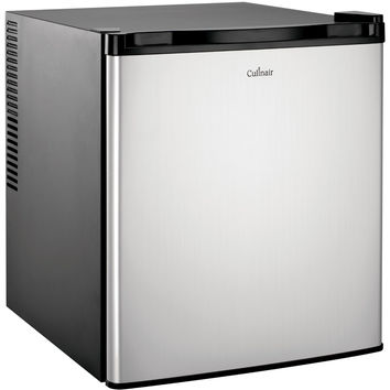 Culinair 1.7-Cubic Foot Compact Refrigerator in Silver & Black