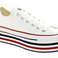 Converse All Star White Platform Ox Trainers at asos.com