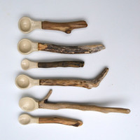 Ceramic/driftwood Spoons - MADE TO ORDER only