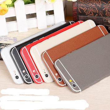 BEST leather Skins Protective Film Back Wrap Skin Cellphone Full Body Protective Film Sticker For iphone 6 6s 6splus 7 7plus