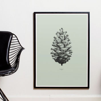 Paper Collective | Nature 1:1 Pine Cone | Green