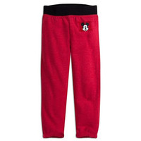 Disney Store Mickey Mouse Fall/Winter/Spring Warm Fleece Red Pants - Boys 3T