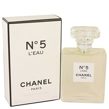 Chänel No. 5 L'eaû Perfûme For Women 3.4 oz Eau De Toilette Spray +FREE VIAL SAMPLE COLOGNE