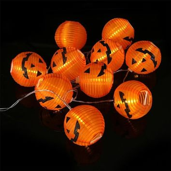 New Creative Halloween Party Decoration Lights 1pc 10 LED Beads Pumpkin String Lights Halloween Decoration Lights 35