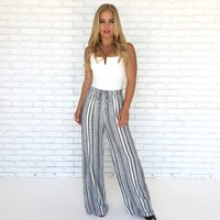 Late Afternoon High Waist Stripe Pants