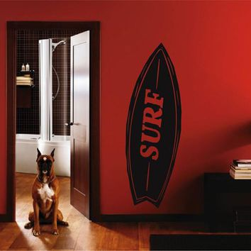 ik2567 Wall Decal Sticker surf board Living sports shop stained glass
