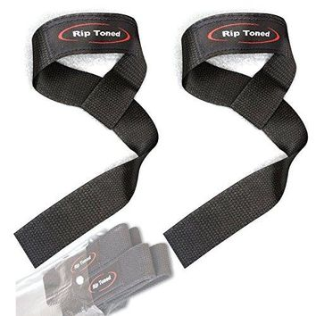 Lifting Wrist Straps (Pair) - Cotton - Neoprene Padded - Perfect For Crossfit