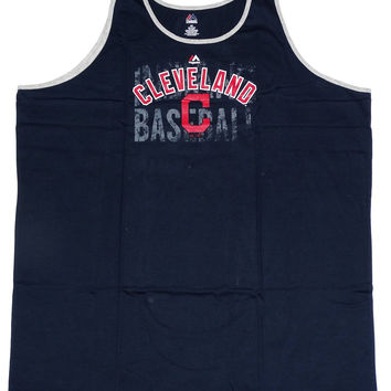 Cleveland Indians Majestic Sleeveless Tank Top Size 4XLT