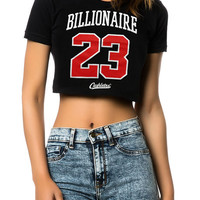 The Billionaire Crop Tee in Black