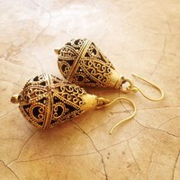 Indian Droplette Earring In Brass