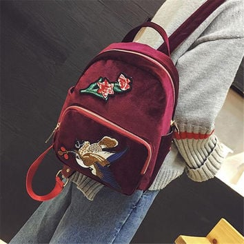 Fashion Vintage styles women Backpack famous brand designer Travel