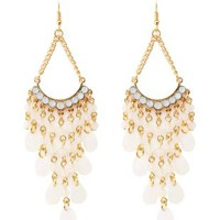 Beaded Chandelier Earrings by Charlotte Russe - Gold