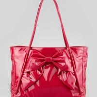 Betty Lacca Bow Tote Bag, Pink