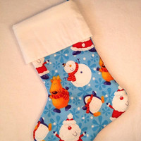 Christmas clearance Santa Penguin Reindeer Snowman festive Christmas stocking