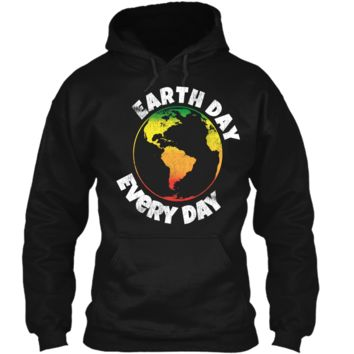 Happy Earth Day 2018 Shirt - Rasta Earth Day Shirt Pullover Hoodie 8 oz