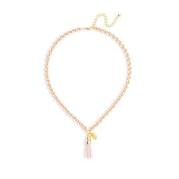 Tassel Pendant Short Necklace in Assorted Colors