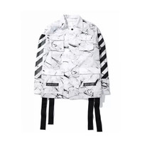 Off White Marbelized Jacket