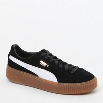 Puma Women's Black Suede Platform Core Sneakers at PacSun.com