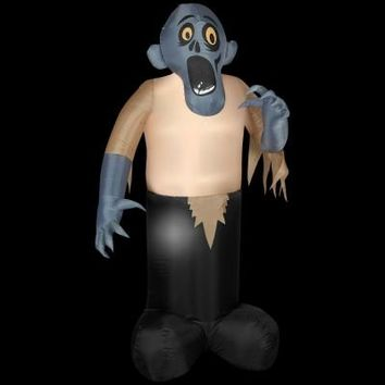 SheilaShrubs.com: Airblown Inflatable Animated Shaking Zombie 54635X by Gemmy: Halloween