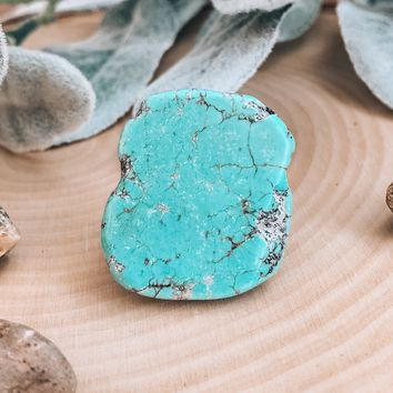Turquoise Slab Statement Ring