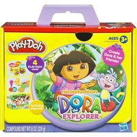 Play-doh Dora the Explorer 4 can 8 oz