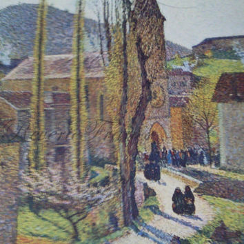 Original Vintage French Art Lithograph by Henri Martin 1930