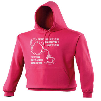 123t USA The First Rule Of Tea Club Always Warm The Pot Funny Hoodie