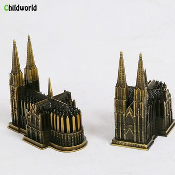 Metal Sculpture Germany Catholic Cologne Cathedral Statue Craft Building Office Decor Tower Home Decoration Accessories