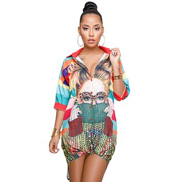 Fairlee Multicolor Printed Shirt Dress