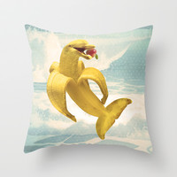 Fruit Fish Throw Pillow by Josh Franke