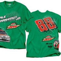 # 88 Dale Earnhardt Jr Diet Mt Dew All Around Nascar T-Shirt, ,XL