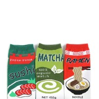 Japanese Food Ankle Sock Set - 3 Pack