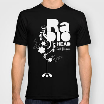 Radiohead song - Last flowers illustration white T-shirt by LilaVert