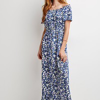 Off-the-Shoulder Paisley Maxi Dress