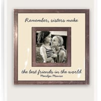 "Remember Sister Make The Best Friends 3""x 3"" Copper & Glass Photo Frame"