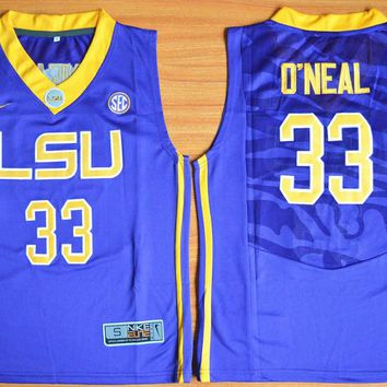 Nike Youth LSU Tigers Shaquille O'Neal 33 College Ice Hockey Jerseys