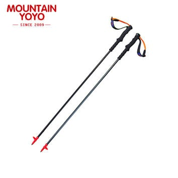 NEW ARRIVE 4-Section Walking Stick Trekking hiking cane Nordic Walking Poles Climbing