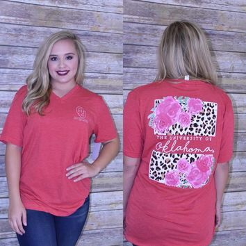 OU Leopard Calamity Jane Canvas T-Shirt