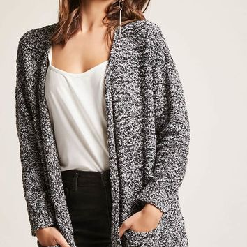 Open-Front Boucle Knit Cardigan - Women - 2000261868 - Forever 21 Canada English