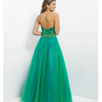 (PRE-ORDER) Pink by Blush 2014 Prom Dresses - Emerald Strapless Sequin Prom Gown