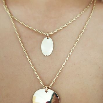 Beautiful You Necklace: Gold