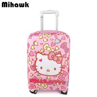 Hello Kitty Elastic Luggage Protective Cover Girl's Travel Trolley Suitcase Dust Cover Bag Case Accessories Supplies Products