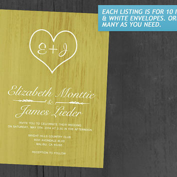 Yellow Country Wedding Invitations | Invites | Invitation Cards