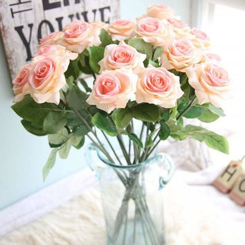 1pc beautiful artificial flowers roses wedding decoration table flowers Artificial Flower For Wedding Decoration