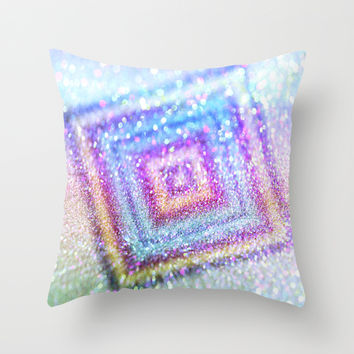 diamond glitter Throw Pillow by Haroulita