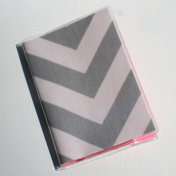 Passport Cover / Holder / Case - Chevron Gray