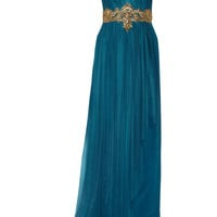 Marchesa Embellished tulle and silk gown – 75% at THE OUTNET.COM