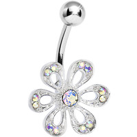 Aurora Gem Sparkling Spring Flower Belly Ring | Body Candy Body Jewelry
